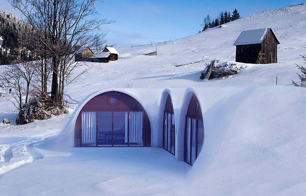 Auch im Winter sollen die Häuser wohnlich sein. (Foto: Green Magic Homes)