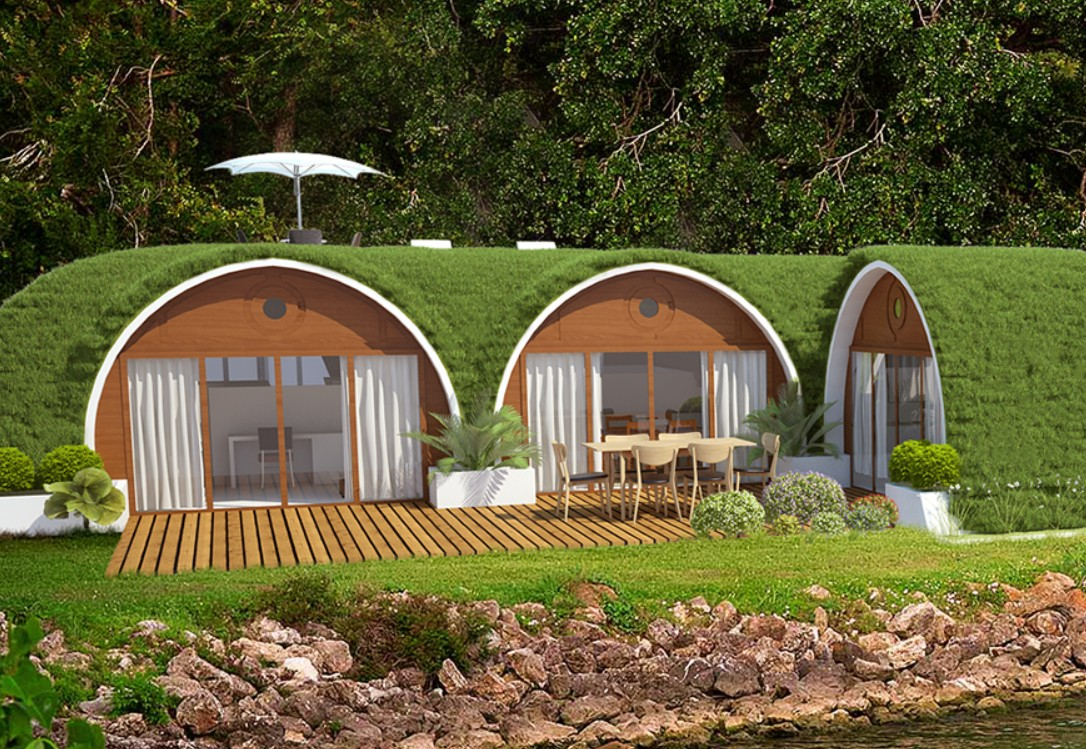 Hier wohnen Hobbits? Nein! (Foto: Green Magic Homes)
