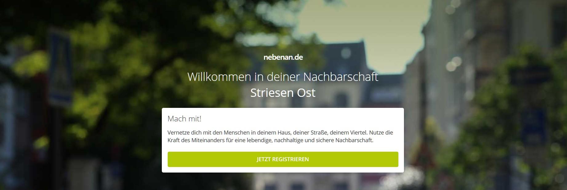 Gründet Nachbarschaften oder werdet Teil einer. (Foto: Nebenan.de)
