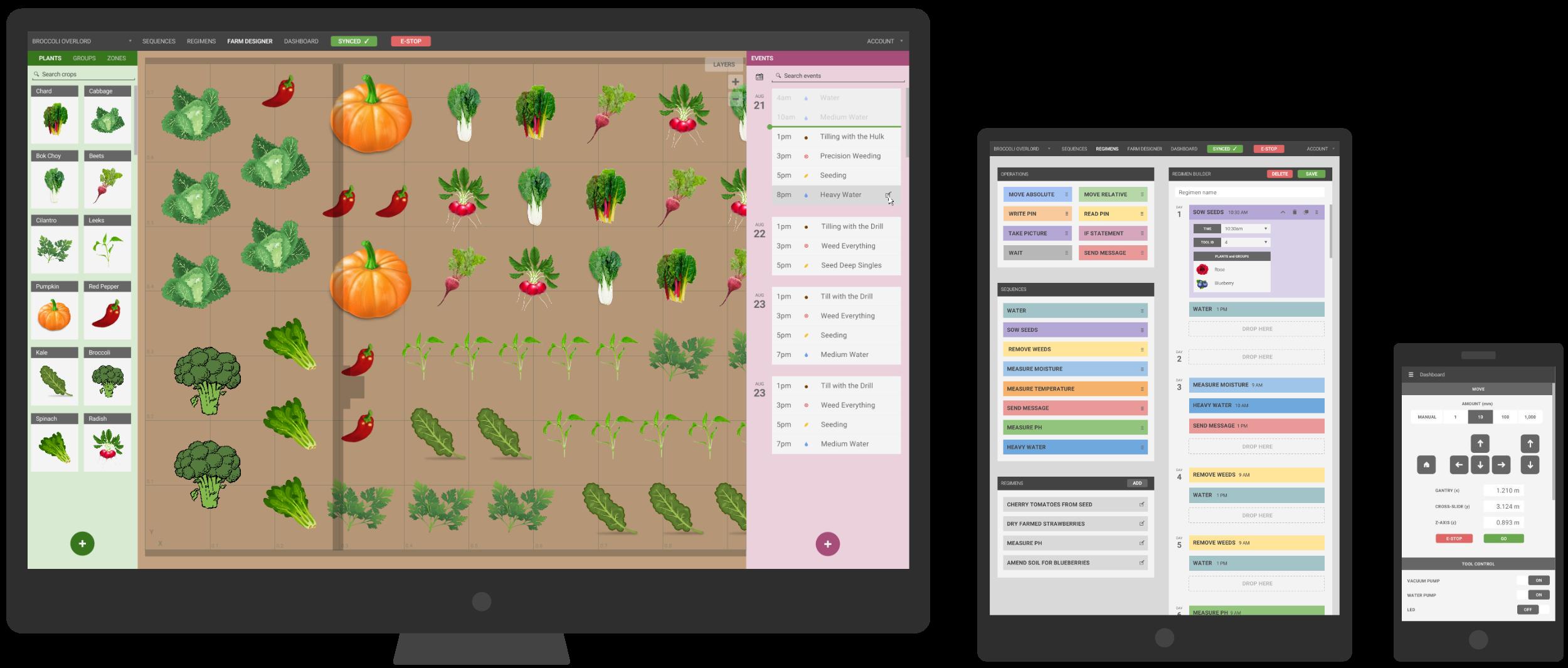 Komplette Steuerung und Überwachung via Web-App. (Foto: FarmBot)