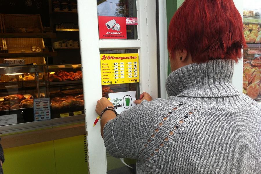 Könnte an jedem Bäcker hängen. (Foto: Coffee to go again)