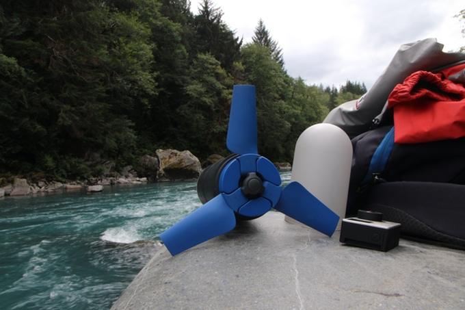 Die Turbine lässt sich aufklappen. (Foto: Enomad)