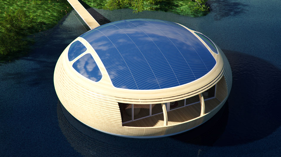 Riesige Solarflächen auf dem Dach. (Foto: EcoFloLife)