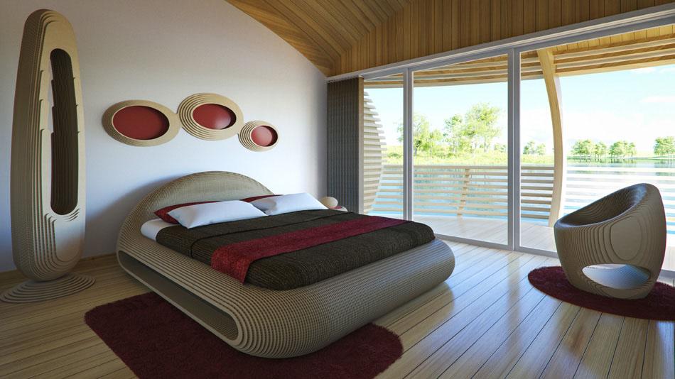 Holz dominiert im Innenraum. (Foto: EcoFloLife)