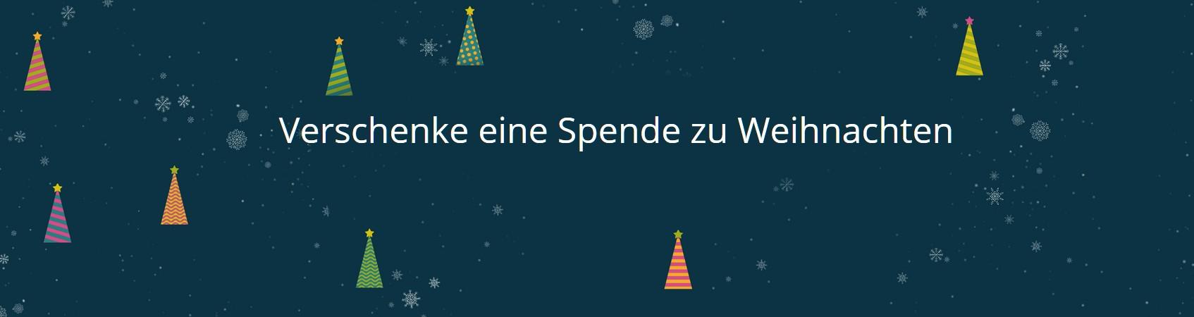 Eine einfache Idee: Spende als Weihnachtsgeschenk. (Foto: Betterplace.org)