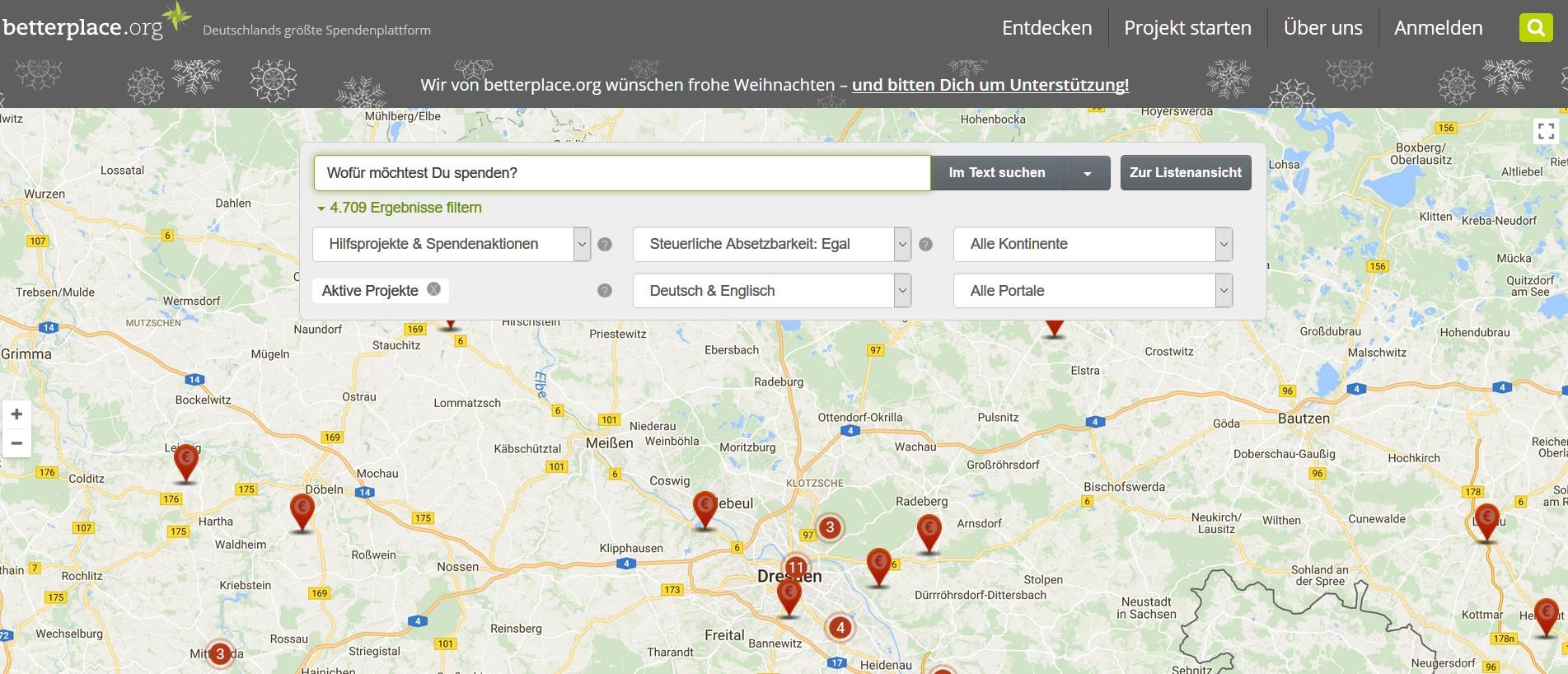 Auch lokale Projekte können direkt unterstützt werden. (Foto: Betterplace.org)