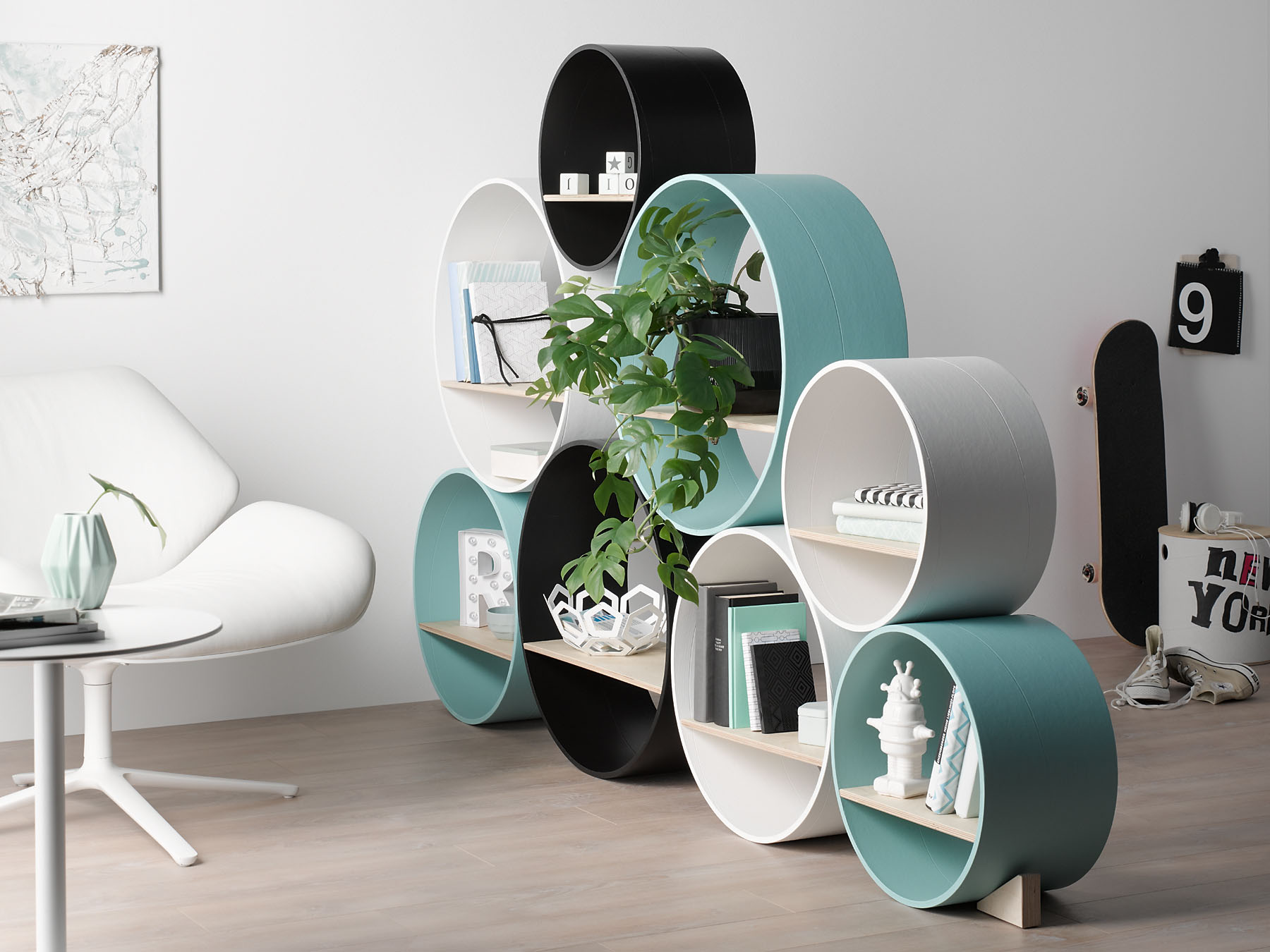 rund stil runde m bel aus hartpapierh lsen. Black Bedroom Furniture Sets. Home Design Ideas