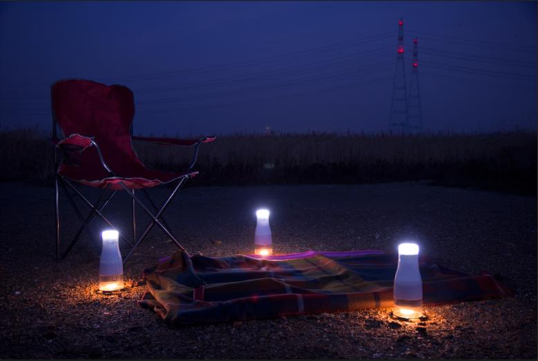 Unten die Kerze, oben die LEDs. (Foto: Lumir)
