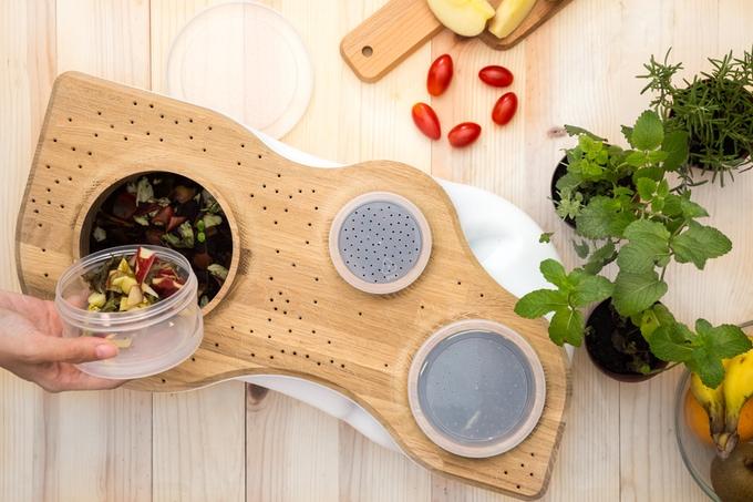 Biovessel besteht aus Holz und recyceltem Polyethylen. (Foto: Bionicraft)