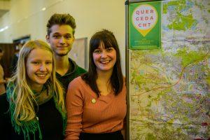Das Team dahinter - Clara, Lorenz, Kristin. (Foto: Quergedacht Dresden)