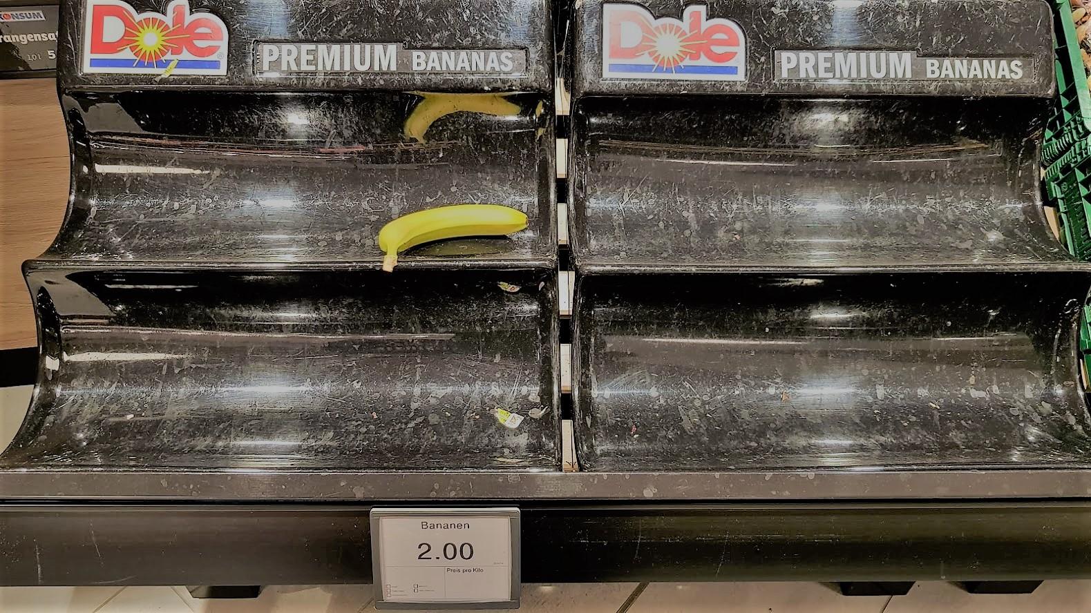 Was wohl mit dieser Banane passiert? (Foto: Sven Wernicke)
