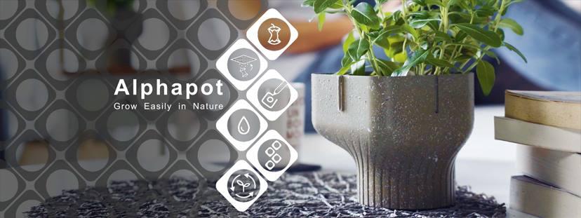 Alphapot ist eine Alternative zu Blumentöpfen aus Plastik. (Foto: Bionicraft)