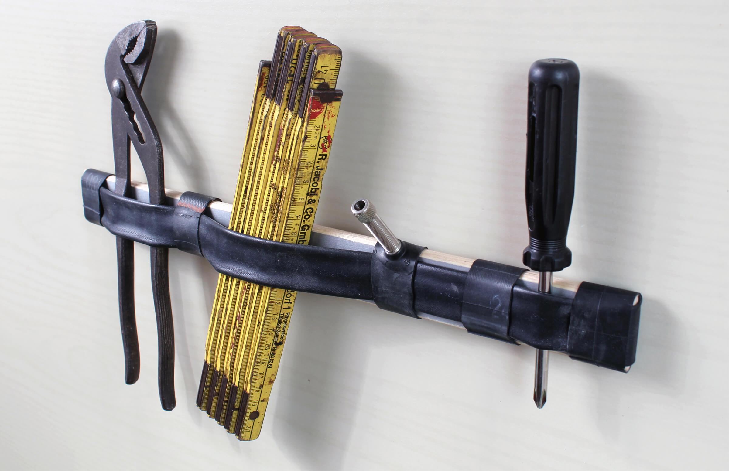 Ja, das ist ein Upcycling-Schlüsselbrett. (Foto: Gregor Halberstadt)