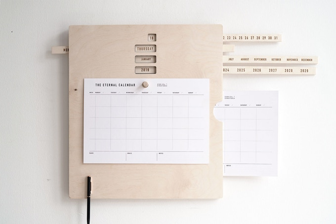 Schiebt die Tage, Monate und Jahre in die richtige Position. (Foto: Stories in Structures)