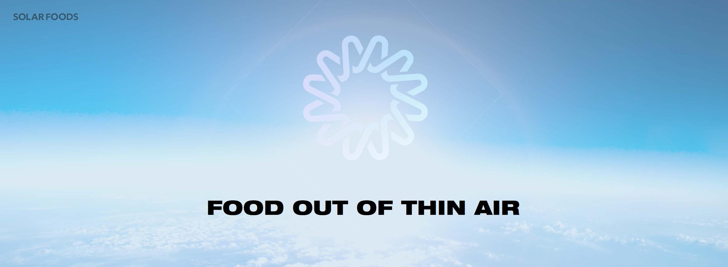 """Solar Foods möchte was aus """"dünner Luft"""" machen. (Foto: Solar Foods)"""