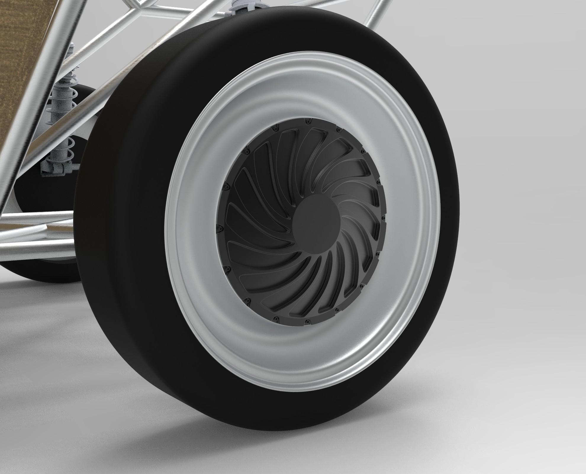 Die Radnabenmotoren bringen Luca in Schwung. (Foto: Luxion / TU/ecomotive)