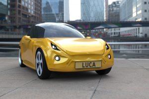 Luca ist ein besonderes Elektroauto. (Foto: Luxion / TU/ecomotive)