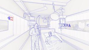 Ein Container bietet Platz für bis zu zwei Patienten. (Foto: Carlo Ratti Associati)