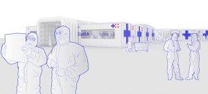Cura-Container-Notfall-Krankenhaus. (Foto: Carlo Ratti Associati)