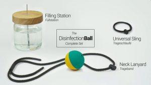 Für den DisinfectionBall gibt es Zubehör. (Foto: KÄFFERLEIN & KÖHNE GmbH & Co. KG)