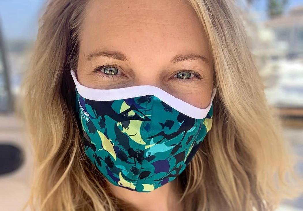 Diese Gesichtsmaske besteht aus Ozeanmüll. (Foto: Padi)