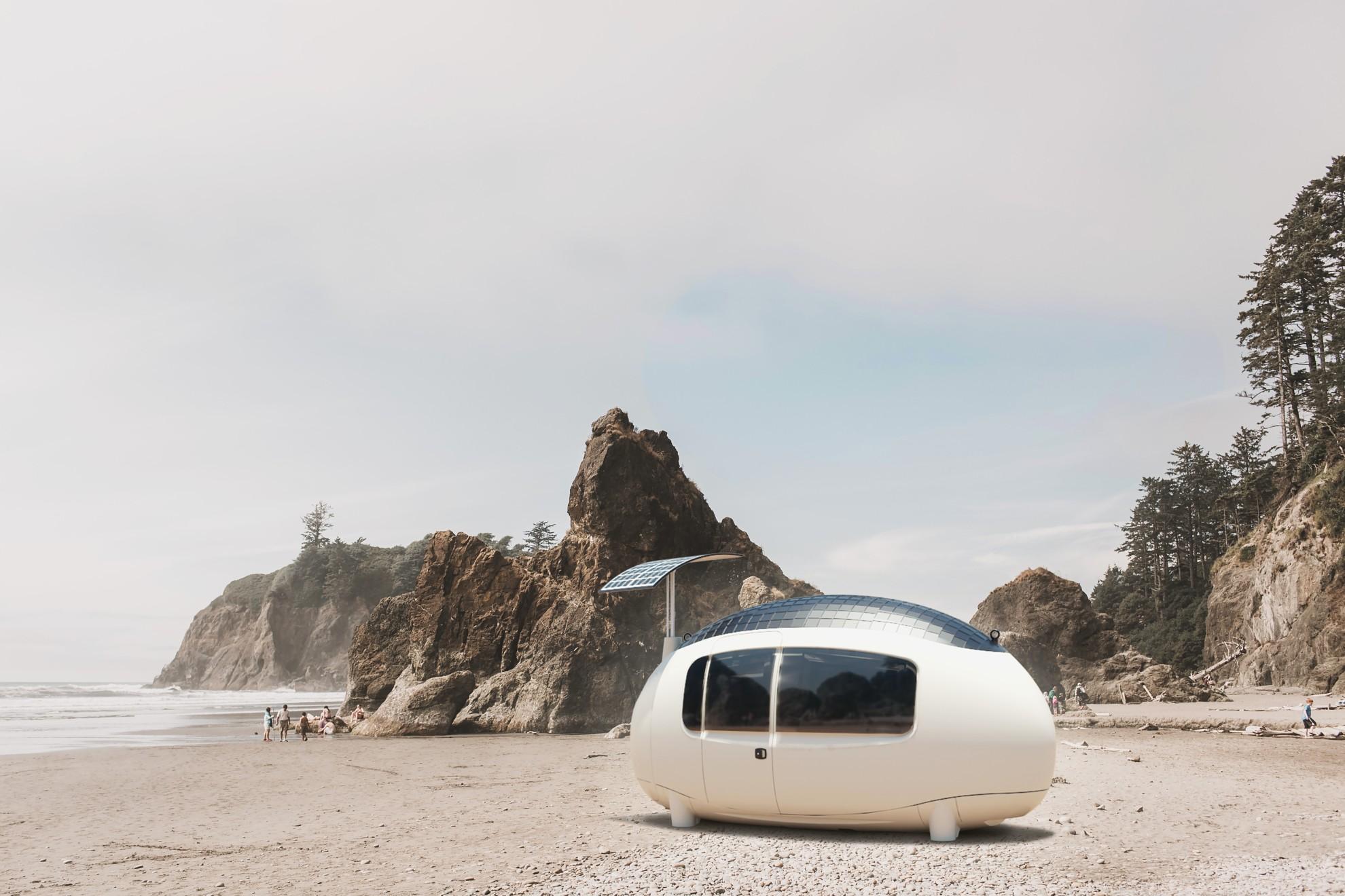 Ein Traum - ein Tiny House wie Space direkt am Strand. (Foto: Ecocapsule)