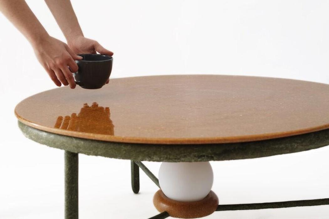 Eine Tischplatte aus Essensresten? Alles möglich. (Foto: Ottan Studio)