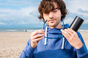 """Boyan Slat mit """"seiner"""" Sonnenbrille. (Foto: The Ocean Cleanup)"""