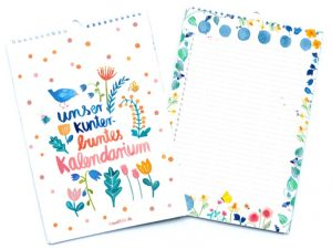 Umweltfreundlicher Familienkalender (Foto: Frau Ottilie)