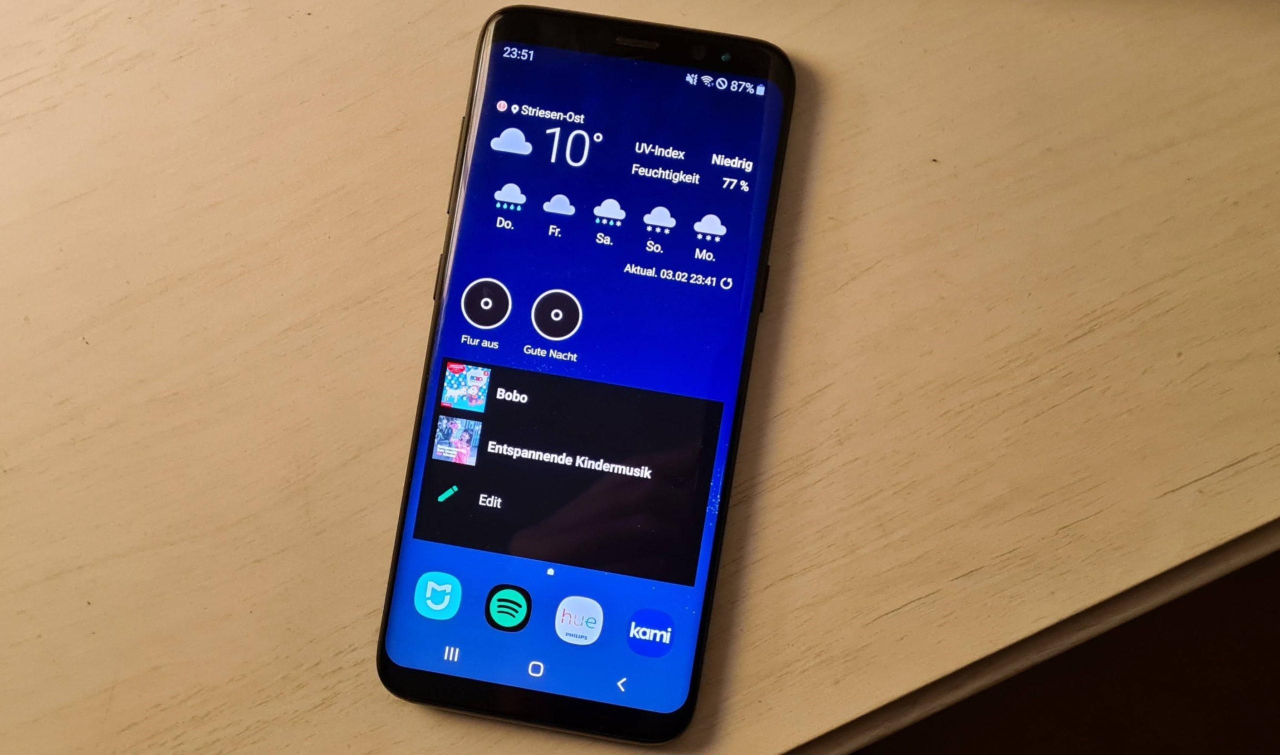 Mein Galaxy S8 nutze ich jetzt als Smart-Home-Steuerung. (Foto: Sven Wernicke)